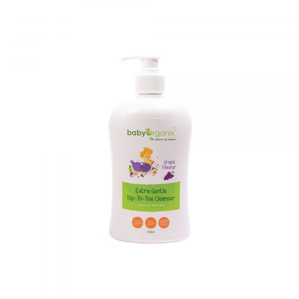 Baby-Organix-Extra-Gentle-Top-to-Toe-Cleaner-Grape-400ml-1